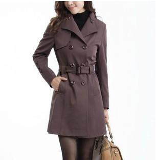 4XL 5XL Women's Trench 2014 Plus Sizes Fashion Slim Long Style Woman Overcoat Windbreaker Coat For Women GDC001