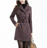 L-5XL Women's Trench 2014 Plus Sizes Fashion Slim Long Style Woman Overcoat Windbreaker Coat For Women GDC001