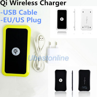 Qi Wireless Charging Pad for Samsung Galaxy Nokia Lumia 920 LG Nexus 5 Iphone 5 qi Charger USB Cable EU/US Power Adapter UQIK8P