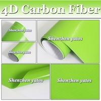 Hot sale 4D Carbon Fiber Glossy vinyl Shinny Carbon Folie Real Look Car Folie