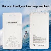 CREATED P10A 10400 mAh external battery ultra thin polymer li battery intelligent safe power bank for tablet or smart phone
