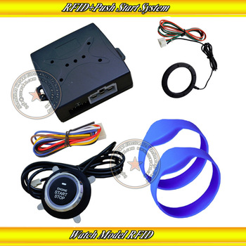 RFID invisible alarm sytem with transponder tag and bypassmodule,push stat/stop,immobilizer/release car engine,keyess entry