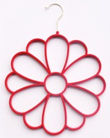[Free shipping] High Quality and Colorful Flocked Velvet Flower Scarf Hanger (50 pieces/ Lot)