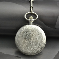 Coupon for wholesale buyer price good quality man men classic vintage retro style silver white face dial pocket watch with chain