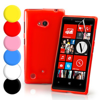 Grip Gel TPU Case Cover For Nokia Lumia 720 + Screen Protector