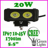 "IP67 5.5"" 2000lm 20w high intensity CREE LEDs Flood /Spot /Combo beam pattern LED light bar"