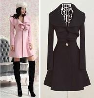 Gossip Girl same style as serena 2014 new fashion Irregular big lapel elegant warm women's coats  plus size coats for woman c156