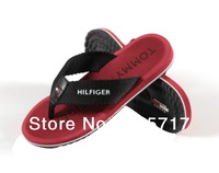 Free shipping 5 colors size 6.5-12 2013 new T*Hlfg fashion flip flops fashion man plus size beach slippers MS13011