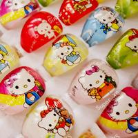 50pcs lovely superman animation cartoon Children/Kids/Girls Cartoon Hello Kitty KT Cat Acrylic Lucite Resin Rings Free Shipping