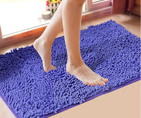 Free shipping 21colors rug mini Mats for doormat carpet bath mat 40*60cm Microfiber Chenille  non-slip mat in the bathroom room