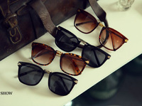 2014 New Vintage Sunglasses Women Designer Walter Arrowns Round Glasses Oversize 6Multi Color Vintage Sun glasses 8759