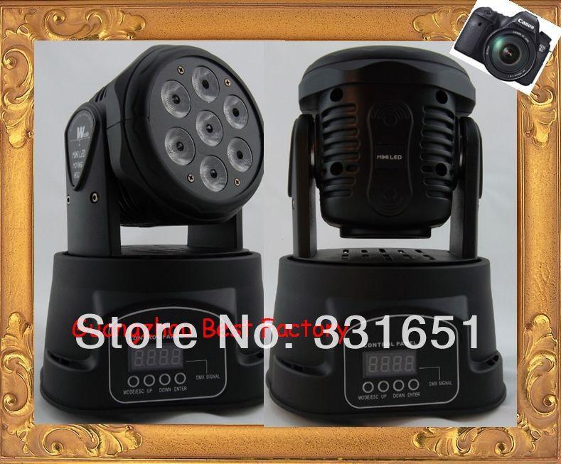 6pcs/lot led moving head mini wash 7x12w rgbw quad with advanced 7/12 channels(China (Mainland))