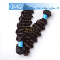 """Beauty supplies10""""-32"""" Machine weft  brazilian virgin human hair color 1b deep wave"""