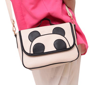 Mailed free of 2013 new female han edition fashion leisure bag lovely bags cartoon panda bags handbag inclined shoulder bag