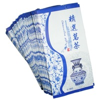 Free shipping 500 pcs lot hot seal bag New designed  white and blue vacuum packaging bags tea shop retail bags