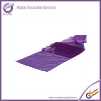 wholesale 5pcs new ultra purple sparkle organza table runner wedding party banquet decoration
