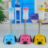 Free Shipping 3 Color Pet Dog Puppy Cat Kitten Feeder Automatic Plastic Water Dispenser Food Bowl Pet Feeding&Watering Supplies