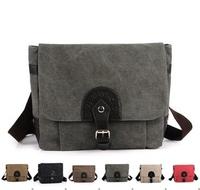 2013 Korean version of the new men's fashion casual canvas bag retro shoulder messenger bag wholesale free shipping