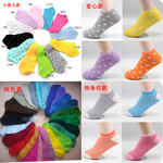 Free Shipping women's socks candy color cotton socks dot heart stripe casual thin socks slippers 10pairs/lot mix color