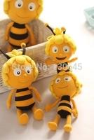 4 pc Plush toy s33cm maya bees+20cm barney+33cm willy small bee +30cm grasshopper clip cartoon lovers  dolls