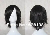 A1 MAX - Anime Costume Party Cosplay Short Curly Wig Black