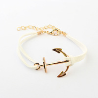 Wholesale New Style Fashion Anchor Bracelet Women and Men Jewelry Min Order $15 Free Shipping
