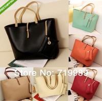 Brand 2014 Korean Lady Women Hobo Leather Messenger Handbag Shoulder Bag Totes