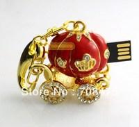 Fashion Pumpkin Car USB Drive Memory Flash Stick 1GB 2GB 4GB 8GB 16GB 32GB True Capacity