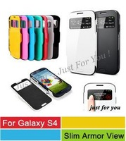A+ Quality SPIGEN SGP Slim Armor S View Automatic Sleep/Wake Flip Case For Samsung Galaxy S4 i9500 With Retail Box 6 Colors