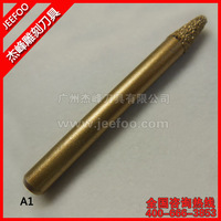 A1-20Angle 6*3*12mm Stone Carving Bits For 3D Deep Relief/CNC Tools Bit/ Diamond Engraving Bits On Glass/Brick/Monument