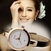 Kezzi  Quartz Watch 2014 New Fashion Digital Women Wristwatches Women Silver Watches Dress Leather Brecelet Strap Casual Retro