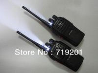 2pcs BF-666S Walkie Talkie New Black Two-Way Radio BaoFeng BF-666S Walkie Talkie UHF 5W 16CH A0782A Single With Earphone
