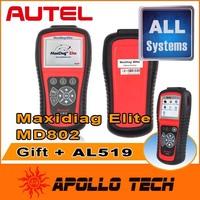 100% Original Autel Maxidiag Elite MD802 Pro Full system + DS Model 4 in 1 (MD701+MD702+MD703+MD704) Car Scan Tool + Gift AL519