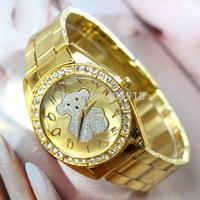 Free Shipping Fashion Steel Branded Rhinestone Wrist Watch For Men and Women Gift Watches,Full Steel Women Dress Wristwatches