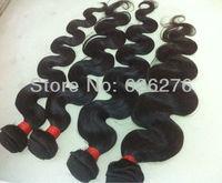 6A High Quality Virgin hair-100% Virgin unprocessed Peruvian Body Wave human Hair weft no tangle/shedding free SHIPPING 4pc lot
