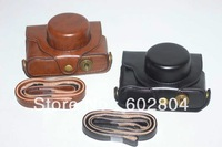 Wholesale!! Great camera case bag fit for Fujifilm X10 X20 X30PU leather camera bag case coffee and black