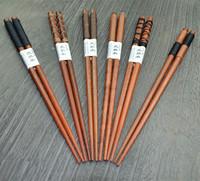 5 Pairs Zakka Japanese Chopsticks Best Genuine Wood Chopsticks Thread Style Chopsticks 22.5 cm 12 Choice
