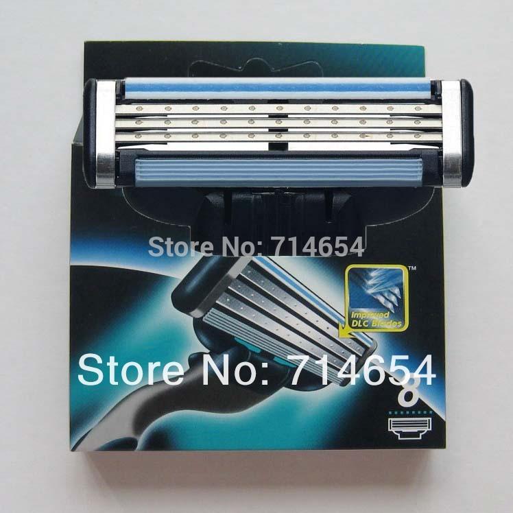 Free Shipping (16pieces/lot) Hot sell Men's Razor Blades,high Quality Blade,Shaving razor blade,Standard for US&RU&Euro(China (Mainland))