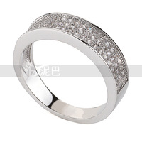 Wholesale Platinum Plated Engagement Ring With Swarovski Crystal Stellux Top Quality