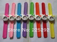 Free Shipping 20pcs/lot Wholesale cheap price new Fashion patted watch hello Kitty kids boys girls jelly brand clap watch