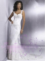 Free shipping Lace wedding dress,  toast clothing embroidery lace self-cultivation Princess small tow wedding dress mermaid
