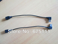 Freeshipping Pair right left angled 90degree USB 2.0 A Male to Female adapter extension cable