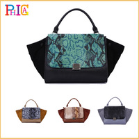 New Arrival!!! Special Offer [100% GENUINE LEATHER] Europe Embossed Snake Bats Phantom Smiling Face Designer Bag