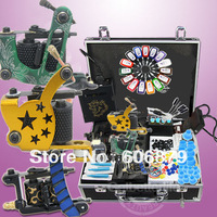 Starter Tattoo Kit 3 Machine Gun Power Supplies Needles Set Equipment GBL-WS-K302B01T1  free shipping only to USA