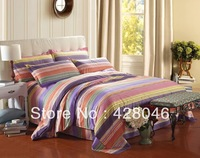 bohemian bedding set king size bedclothes 3d color ful bed linens Stripe duvet cover bed set bed sheet