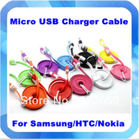 Free Shipping New Flat Micro USB Cable 3M For Samsung Galaxy S3 S2 Note 2 For HTC For Motorola For Blackberry For LG For Nokia