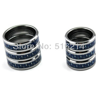 6pcs/lot 8MM Tungsten Carbide Rings,Comfort fit Men Jewelry With Blue Carbon Fiber Inlay New size 7/8/9/10/11/12/13 TU009R_W
