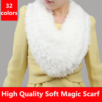 High Quality 2014 Free Shipping Magic Scarf Variety Scarves For Women Polyester Soft Solid Color White Shawl Wrap Fashion Style