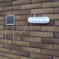solar powered panel ourdoor Stairway lamp 5LED solar indoor corridor wall lamp solar garden shed light