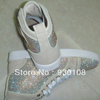 latest suede leather swarovski crystal shoes men!hot sell crystal shoes luxury men shoes!